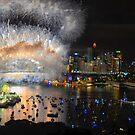 What a Blast - Sydney NYE Fireworks 2017 #1 by Philip Johnson