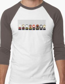 Star Trek TNG Police Lineup Men's Baseball ¾ T-Shirt