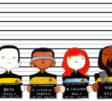 Star Trek TNG Police Lineup Sticker