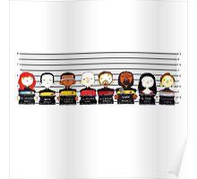 Star Trek TNG Police Lineup Poster