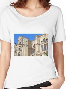 Architectural detail of the cathedral from Malaga, Spain. Women's Relaxed Fit T-Shirt
