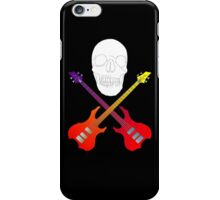 guitar cross bones  iPhone Case/Skin