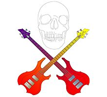 guitar cross bones  Photographic Print