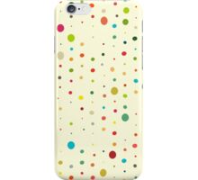 retro rain spots cream iPhone Case/Skin