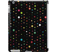 retro rain spots black iPad Case/Skin