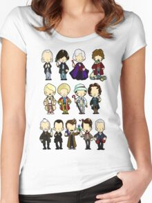 The Doctors 1-11 (plus war doc) Women's Fitted Scoop T-Shirt