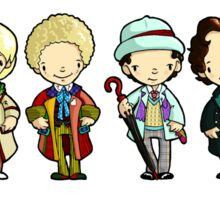 The Doctors 1-11 (plus war doc) Doctor Who Sticker