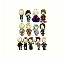 The Doctors 1-11 (plus war doc) Doctor Who Art Print