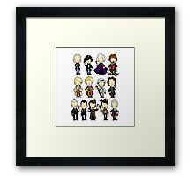 The Doctors 1-11 (plus war doc) Doctor Who Framed Print