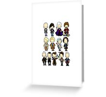The Doctors 1-11 (plus war doc) Greeting Card