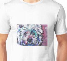 Westie West Highland Terrier Bright colorful pop dog art Unisex T-Shirt