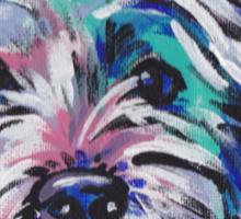 Westie West Highland Terrier Bright colorful pop dog art Sticker