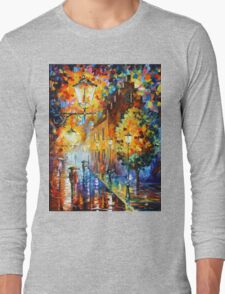 LIGHTS IN THE NIGHT - Leonid Afremov Long Sleeve T-Shirt