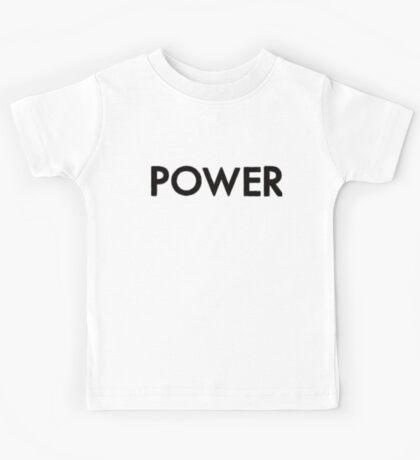 power (black) Kids Tee