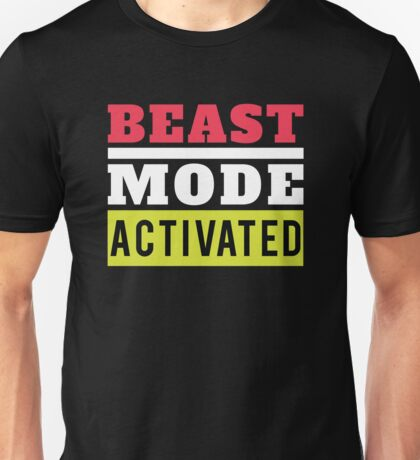 Fitness Beast Mode Activated Gym Workout Unisex T-Shirt