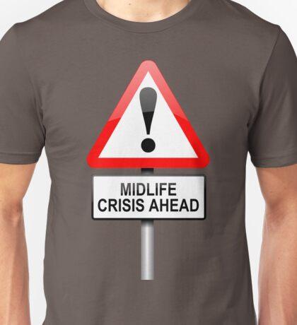 Midlife crisis concept. Unisex T-Shirt