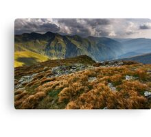 Alpine landscape in a cloudy day Canvas Print