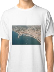 Cannes France Aerial view of Le Vieux Port. Classic T-Shirt