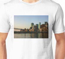 San Francisco Skyline - South Beach Embarcadero Facades Reflect the Sunrise Unisex T-Shirt
