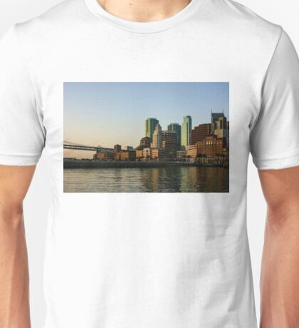 San Francisco Skyline - South Beach Embarcadero Facades Reflect the Sunrise Unisex T-Shirt