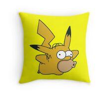 Pikachu x Homer Throw Pillow