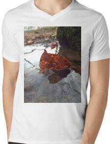 Lazy leaf Mens V-Neck T-Shirt