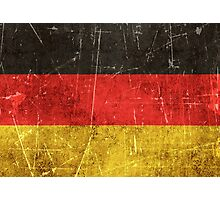 Vintage Aged and Scratched German Flag Photographic Print