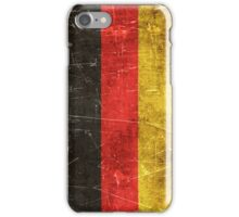 Vintage Aged and Scratched German Flag iPhone Case/Skin
