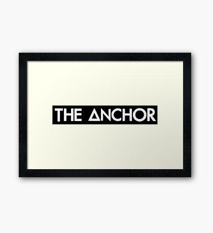 the anchor  (white) Framed Print