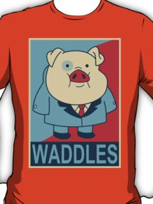"Waddles- ""Hope"" Poster Parody T-Shirt"