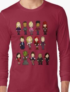 Doctors Companions and Friends V.2 Long Sleeve T-Shirt
