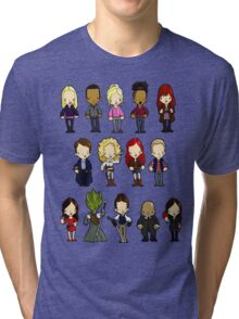 Doctors Companions and Friends V.2 Tri-blend T-Shirt