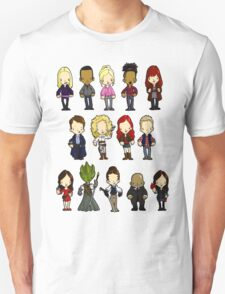 Doctors Companions and Friends V.2 Unisex T-Shirt