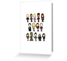 Doctors Companions and Friends V.2 Greeting Card