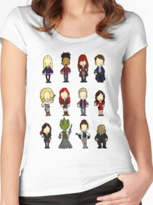 Doctors Companions and friends Women's Fitted Scoop T-Shirt