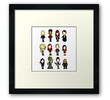 Doctors Companions and friends Framed Print