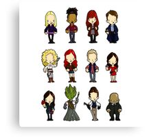 Doctors Companions and friends Canvas Print