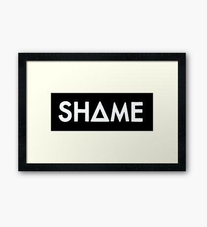 shame (white) Framed Print