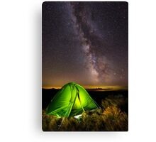 Tent with Milky Way above Canvas Print