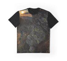 Mountain range at sunset Graphic T-Shirt