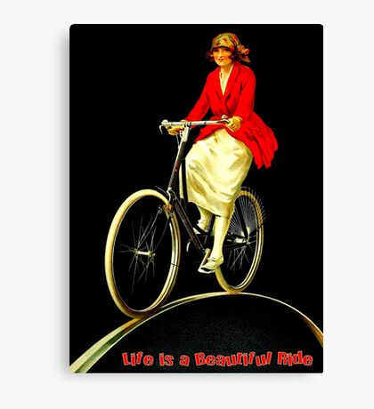 BICYCLES; Life is a Beautiful Ride Print Canvas Print