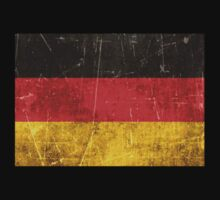 Vintage Aged and Scratched German Flag Kids Clothes