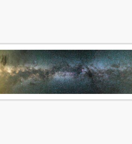 Milky Way between mountains Sticker