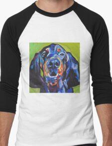 Black and Tan Coonhound Bright colorful pop dog art Men's Baseball ¾ T-Shirt