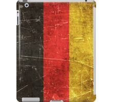 Vintage Aged and Scratched German Flag iPad Case/Skin