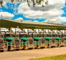 Truck Parking for Christmas Sticker