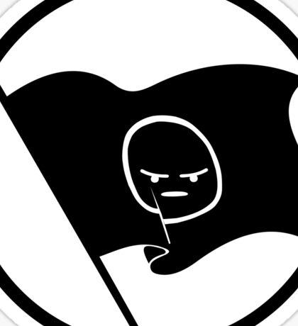 Anarchist Emoji Flag (Circled) Sticker