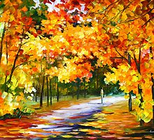 THE PATH OF SUN BEAMS - Leonid Afremov by Leonid Afremov