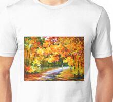THE PATH OF SUN BEAMS - Leonid Afremov Unisex T-Shirt