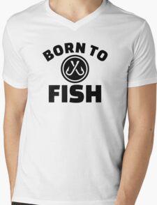 Born to Fish hooks Mens V-Neck T-Shirt